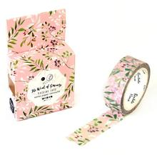 JA210  Fresh Green Leaves & Flowers Decorative Washi Tape DIY Scrapbooking Masking Tape School Office Supply Escolar Papelaria