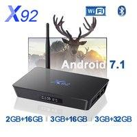 X92 Smart TV Box Android 7.1tv box 2GB 3GB 16GB 32GB CPU 5G Bluetooth H.265 with USB 2.0 Set Top Box pk X96mini mi box no iptv