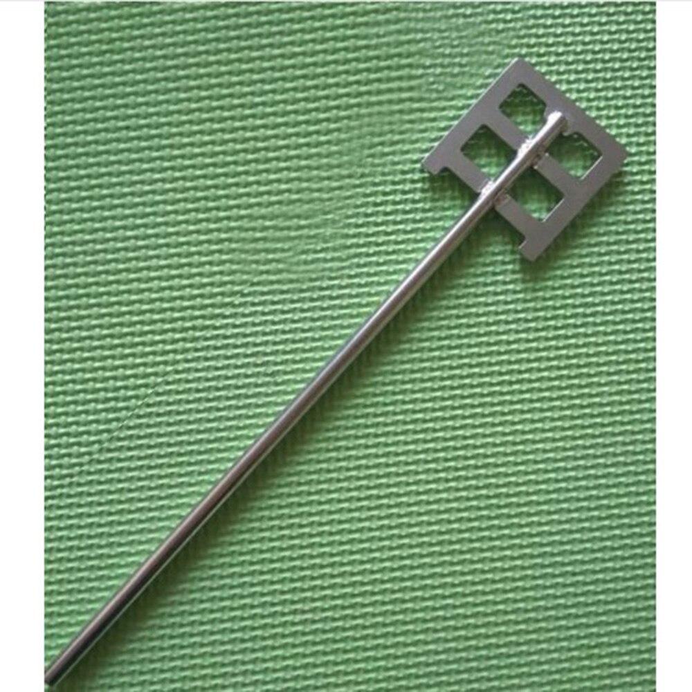1 pcs laboratório lâmina tipo de âncora de aço inoxidável placa de pá com folha-largura 60mm ou 80mm, máquina de agitação impulsor remo com haste