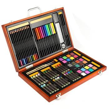 Simbalion black and white painting box sent suit children painting watercolor pen combination lead color stick box