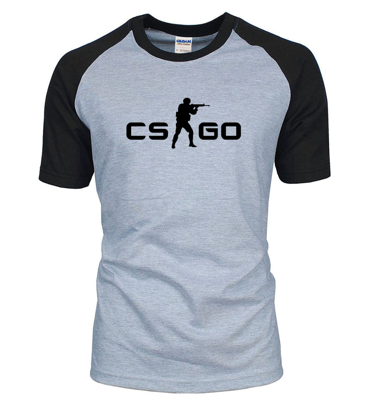 New Arrival for gamers CS GO raglan t shirt men 2017 summer 100% cotton high quality CSGO t-shirt fashion brand clothing
