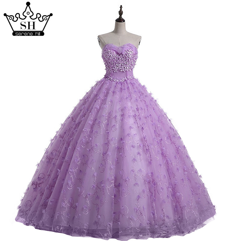 Flower Ball Gown Purple Wedding Dress Bridal Robe De Mariage Mariee Princesa Dresses 2018 In From Weddings