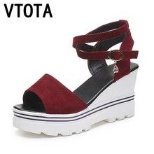 Vtota женские босоножки модные босоножки на платформе женские туфли на платформе Высокий каблук летние туфли tenis feminino женские туфли R08