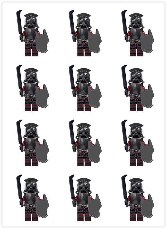 100 pcs wm299 반지의 제왕 uruk hai herr der ringe 헬멧 빌딩 블록 어린이 장난감 어린이 선물-에서블록부터 완구 & 취미 의  그룹 1