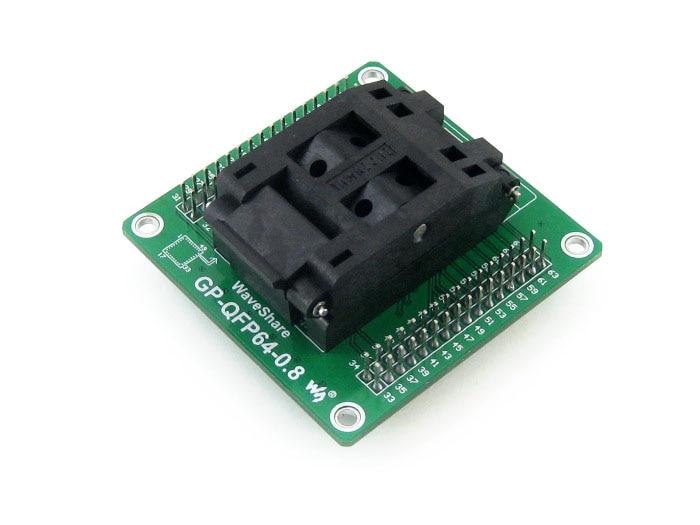 QFP64 PQFP64 TQFP64 LQFP64 GP-QFP64-0.8 IC Test Socket Programming Adapter 0.8mm Pitch + Free Shipping stm32f072rbt6 lqfp64 ic агентство новый оригинальной аутентичной