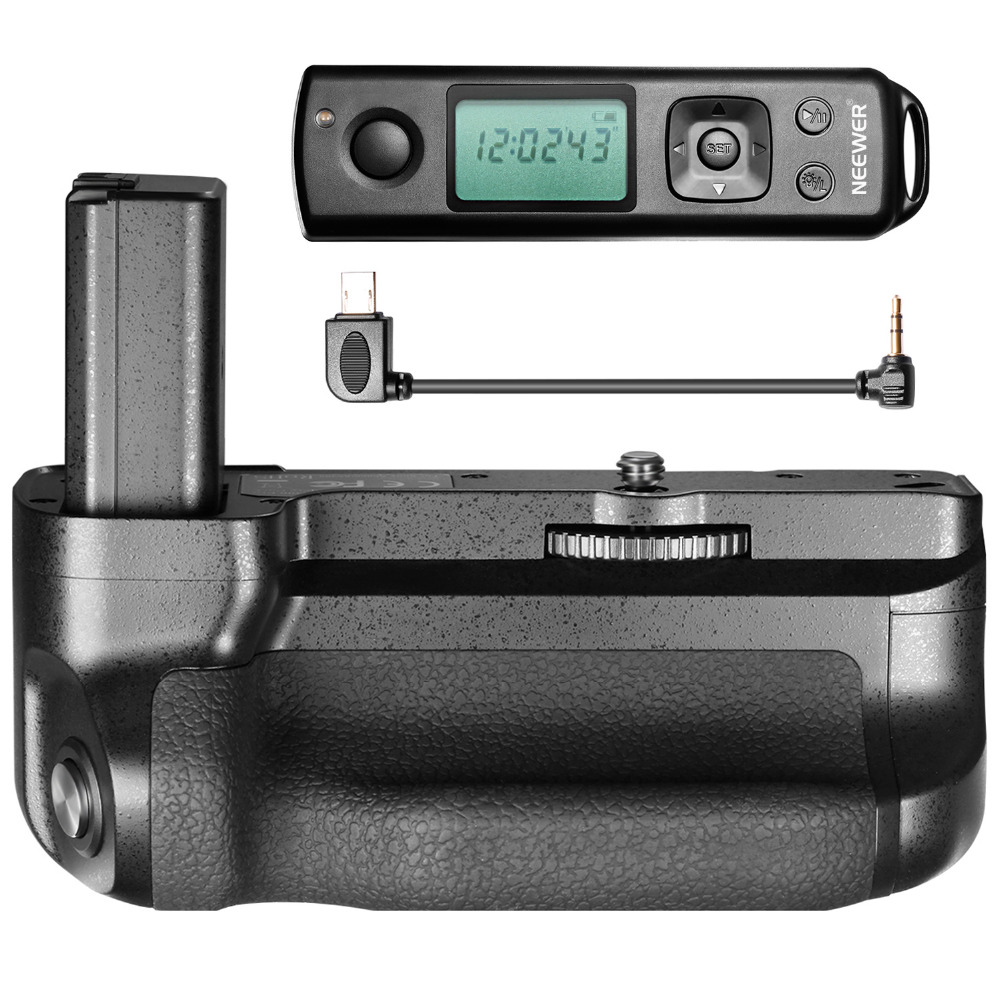 Neewer Pro Camera Battery Grip for Sony A6500 Mirrorless Camera Equipped with Remote Controller Vertical Shooting Function