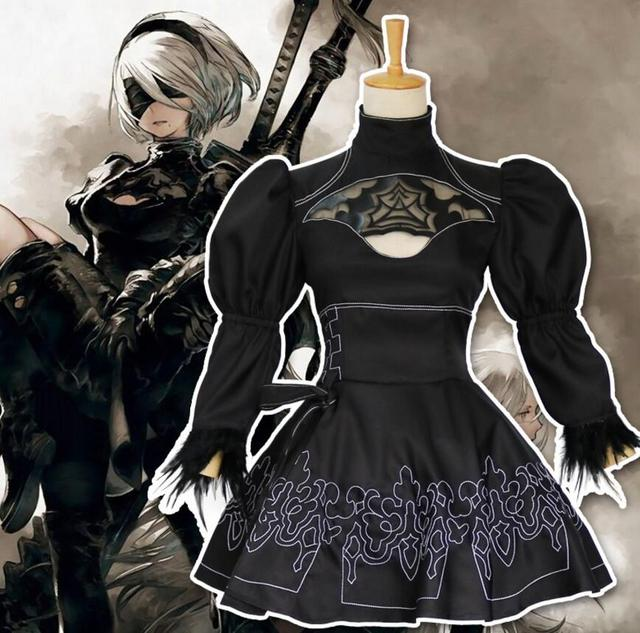 Free PP 2B 9S NieR: Automata Cosplay Costume YoRHa No.2 Type B Uniforms