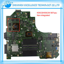 K56CB Laptop Motherboard for ASUS with 987 CPU Non integrated K56CM mainboard 100 Tested Free Shipping