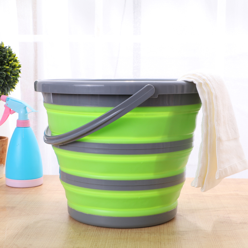 10L New Arrival Silicone Folding Bucket Large Capicity Save Space Washabe Fishing Camping Car Bucket kitchen items Balde Barrel