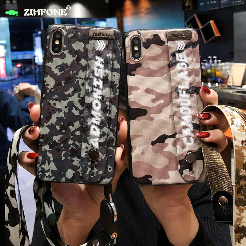 Fundas Camouflage Pattern Camo Huawei P20 Pro Cases Luxury Wristband Military Cute Army for Lite Capa