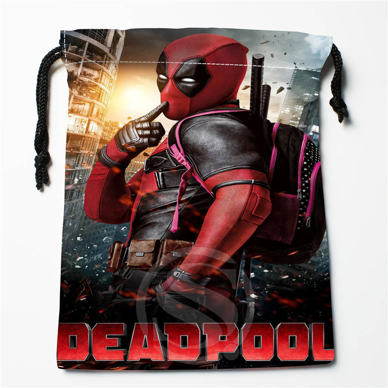 V#bN78 New Deadpool Custom Printed  Receive Bag Compression Type Drawstring Bags Size 18X22cm 7=12JvN78