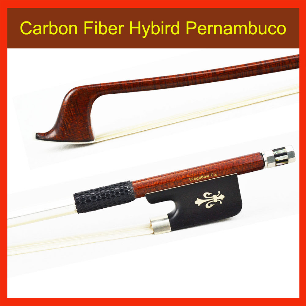 4/4 Size CELLO BOW Carbon Fiber Core Pernambuco Skin Stick Ebony Frog Mongolia Horsehair Straight Cello Parts Accessories 122C 1 4 size 812vb pernambuco violin bow high density ebony frog with nickel silver good quality hair straight violin accessories