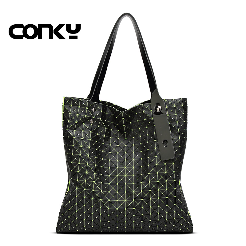 2016 Brand New Fashion Women Bag Diamond Lattice Tote Geometry Quilted Handbag Geometric Mosaic Shoulder Bag 2015 hot fashion top top quality same as baobao 1 1 women s lattice geometry quilted handbag geometric mosaic totes bag6 6