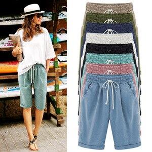 Image 1 - Summer Female Five Pants Thin Outer Wear Pants Large Size Women Slacks 6XL Casual Pants Harem Pants Beach Wear