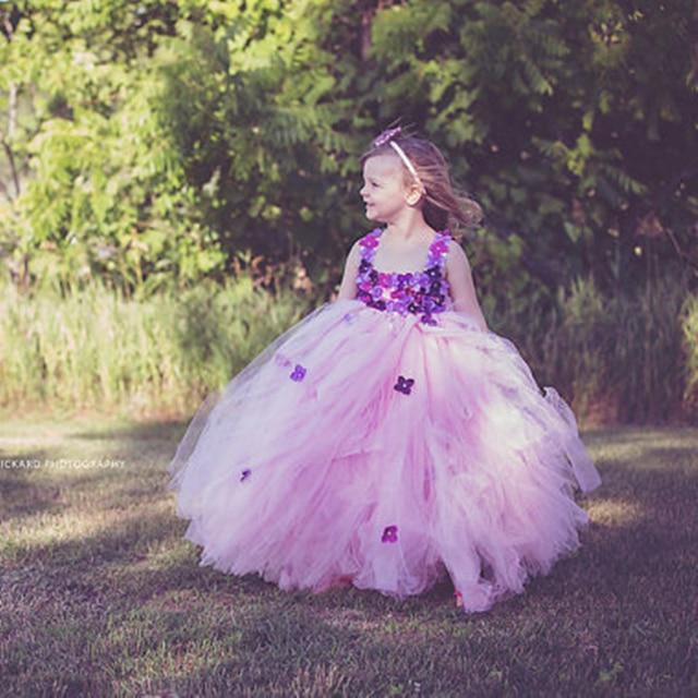 Pink Princess Baby Dress Light Purple Flower Girl Tutu Dress ...