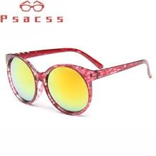 Psacss Retro Sunglasses Women 2018 Round Cat Eye Cute Fashion Womens Sunglass Brand Designer High Quality Vintage Sun Glasses