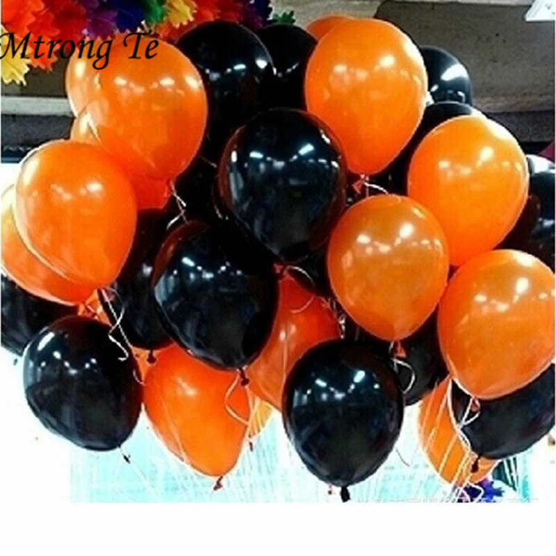 Halloween Party Balloons Latex High Quality balloon haloween Theme Orange Black