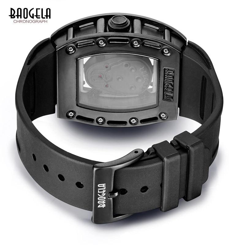 Baogela Mens Silicone Analogue Quartz Ժամացույցներ - Տղամարդկանց ժամացույցներ - Լուսանկար 6