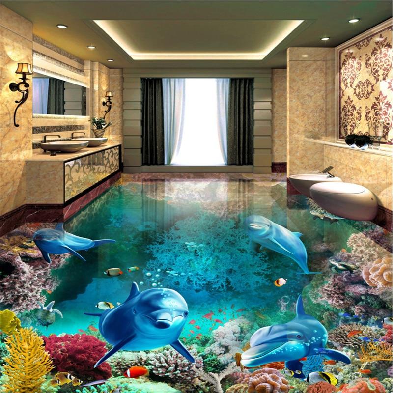 Beautiful Tiles For Living Room: Beibehang Custom Nonwovens Wallpaper Beautiful Underwater