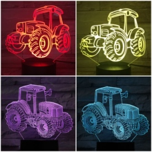 night lamp neon 3D Illusion Lampara Led Gradient NightLight visual decorative lights Children Kids Gift Tractor Night Light LED
