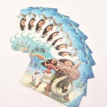 10pcs/set Moana Birthday Party Supplies For Girls And Baby Shower Favor Party Decoration Invitation Card for Boy 16(China)
