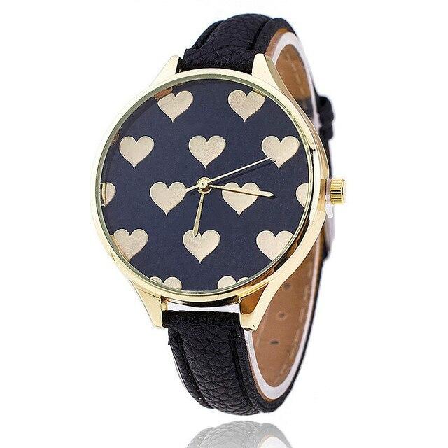 2018 New Fashion Love Heart Quartz Watch Casual Women Bracelet Watches Reloj Muj