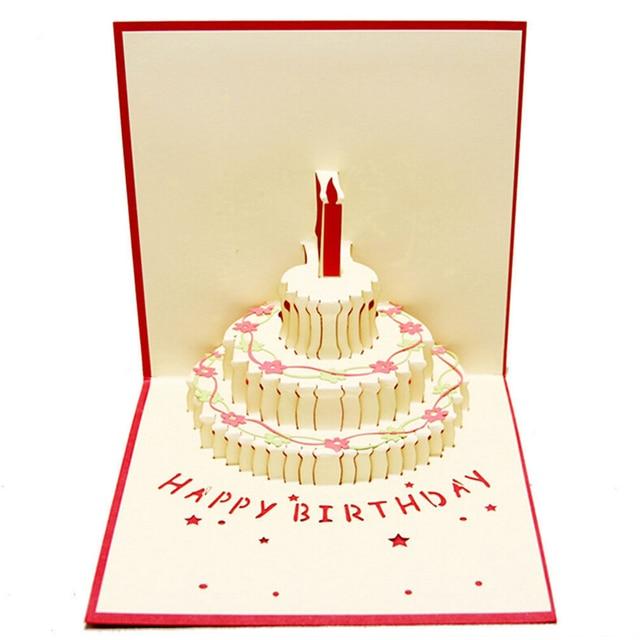 Happy brithday 3d pop up handmade laser cut birthday cake with happy brithday 3d pop up handmade laser cut birthday cake with candle creative gifts postcard greeting publicscrutiny Choice Image