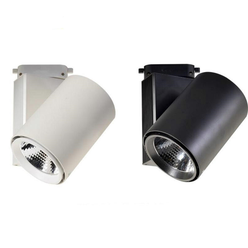 Wholesale Retail focusing 20W 30W CREE COB LED Track Light Spot Wall Lamp Spotlight Tracking LED AC110V/240V wired 30w 2700lm 6000k white light led spotlight lamp silver black 90 240v