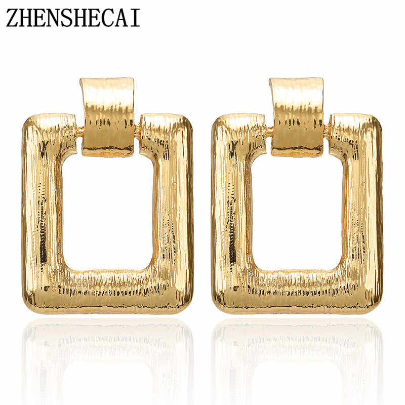 New European Exaggerated Metal Earring Popular Geometric Drop Earrings For Women Punk style earring jewelry Accessories