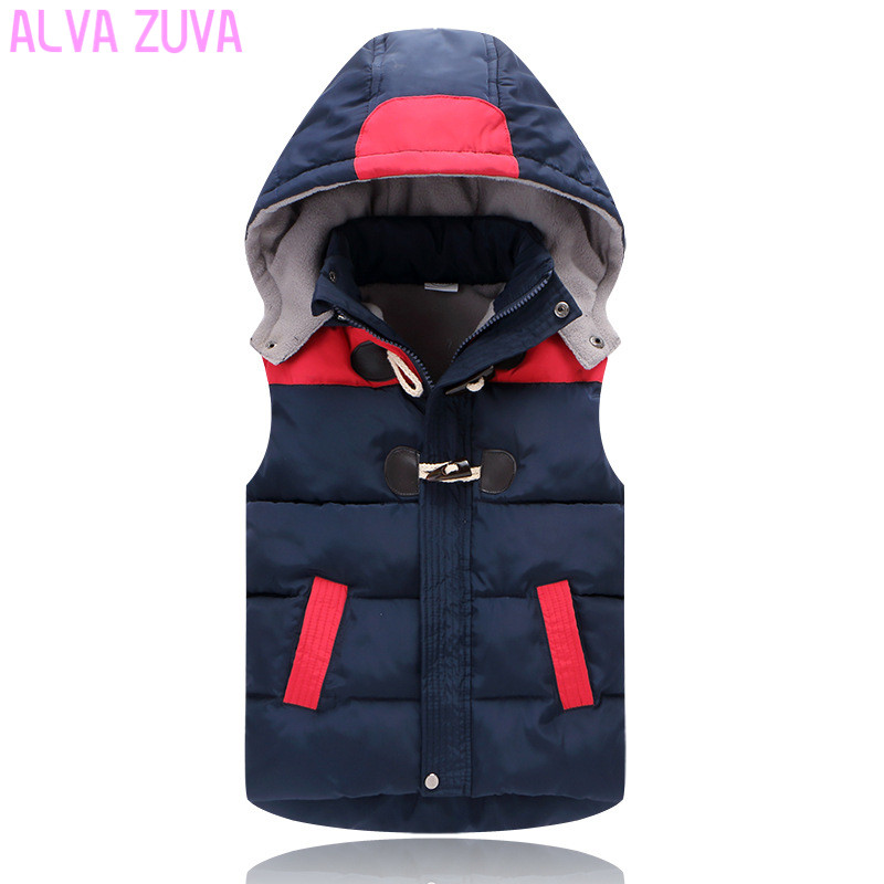 Promotion 2017 Winter Kids Fashion All-Match Vests Boys Girls Down Vests&Waistcoat Children Down Hooded Jackets Clt248