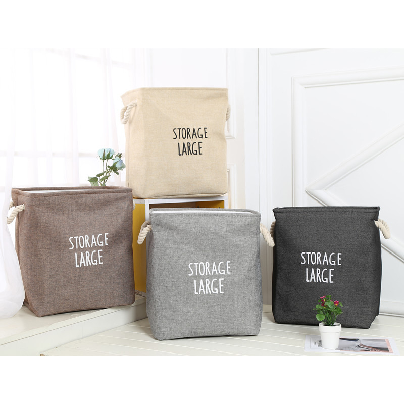 Waterproof Laundry Clothes Basket Cloth Storage Box Sundries Bag Decoration Gift