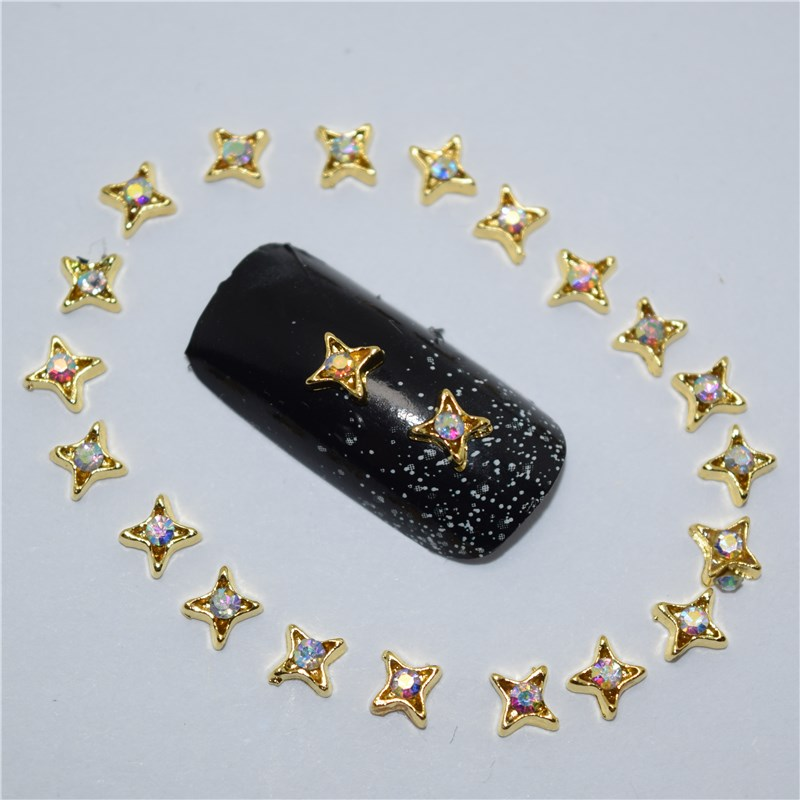 10pcs 3d nail jewelry decoration nails art glitter rhinestone for manicure Color gem stars design nail accessories tools #168 100pcs 6 color choices resin flowers nail art decoration diy charm 3d unha nails accessories bl59
