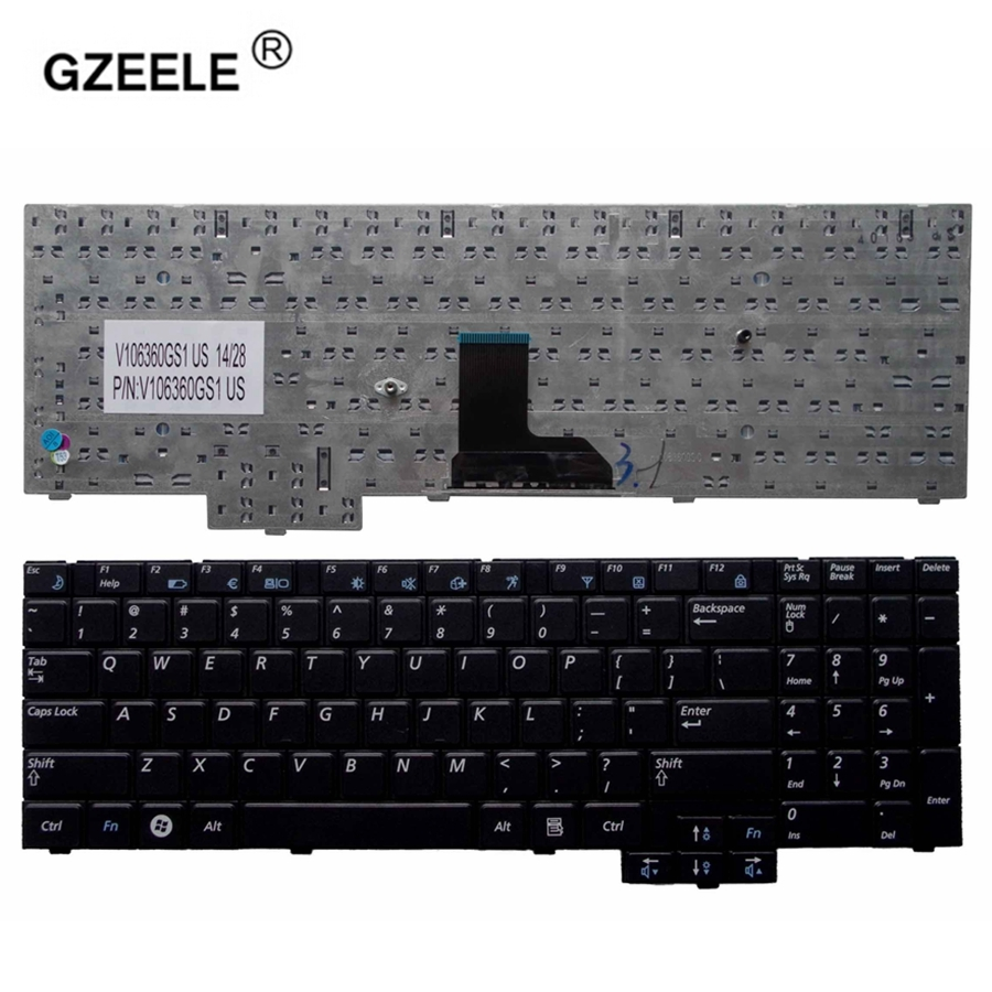 GZEELE NEW US Laptop Keyboard for Samsung NP-R528 NP-R530 NP-R540 R519 R719 NP-R719 NP-R519 series US Black english layout new for sony vgn fj series laptop us keyboard 147951221 black
