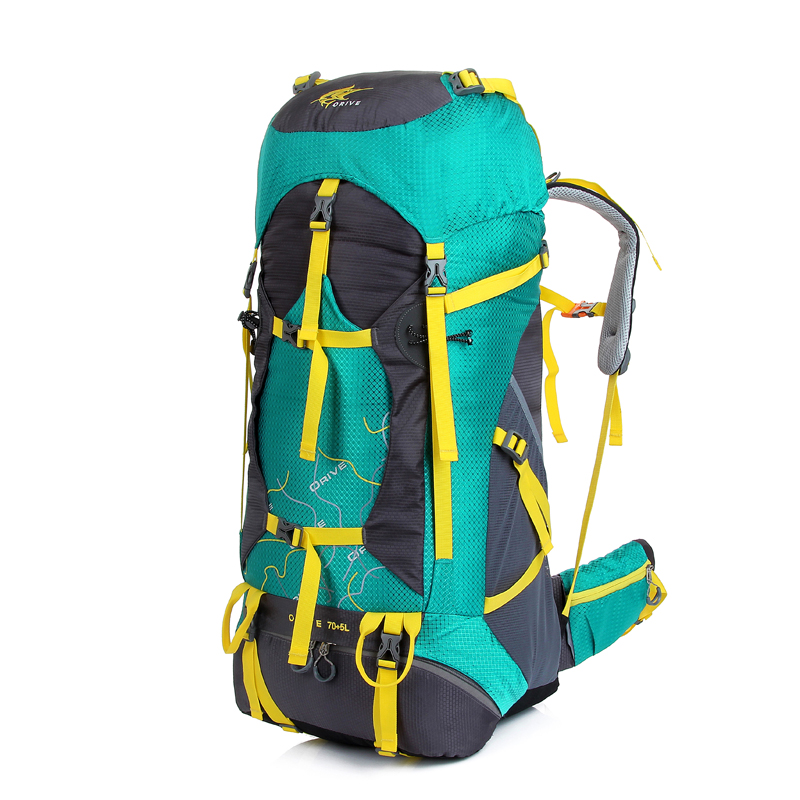 все цены на  Clearance ! High quality Nylon waterproof bags Camp Hik gear Climb  travel backpacks Multifunction backpacks rucksack 70L  онлайн