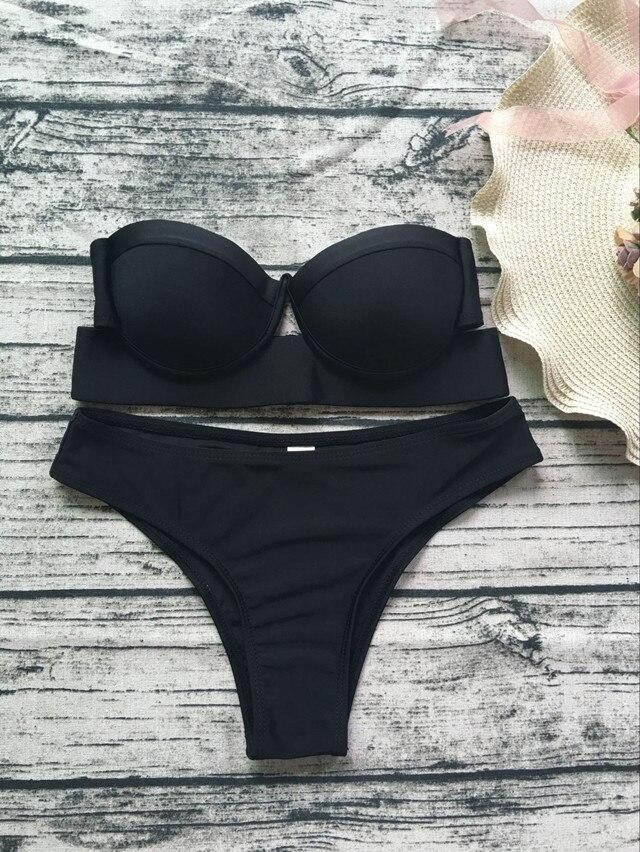 2017 push-Up Wrap Bikini Set Badeanzug Badeanzug Bademode Bademode
