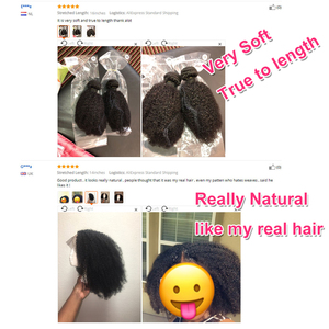 Image 3 - Gabrielle Afro Kinky kıvırcık saç brezilyalı saç örgü demetleri doğal renk insan saçı postiş 3 demetleri Remy saç 5/10 adet