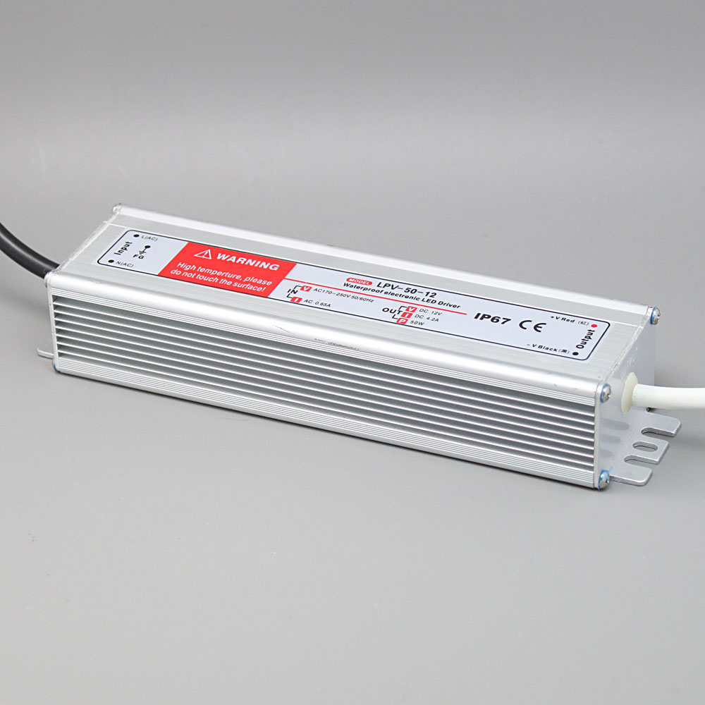 LPV-50 50W IP67 waterproof LED power supply Power Driver 12V 24V