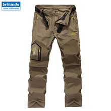 2018 New Men's Summer Quick Dry Pants Outdoor Male Removable Shorts Hiking Camping Trekking Fishing Sport Trousers
