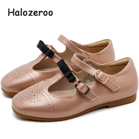 2019 Autumn New Baby Girls Bow Shoes Children Pu Leather Flats Toddler Princess Shoes Kids Brand Shoes Fashion Black Mary Jane