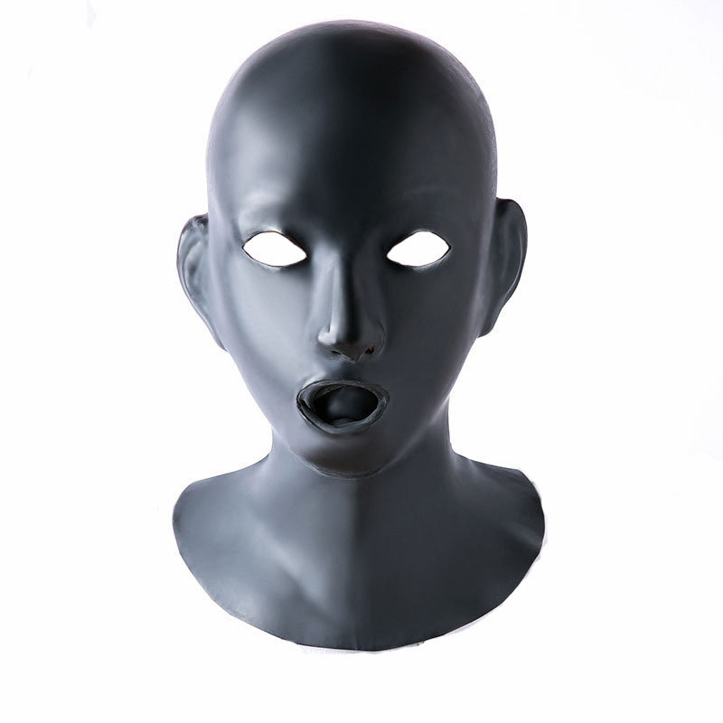 Latex Sex Mask Bondage Hood Adult Fetish Toys Bdsm Mask Zipper With Open Mouth Gag Sex Slave Adult Games Sex Toys For Couples fetish sex furniture harness making love sex position pal bdsm bondage product erotic toy swing adult games sex toys for couples