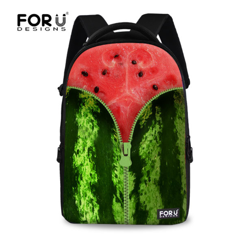 Fashion 17 inch Printing Laptop Backpack Fruit Style Female Women Backbag Cool Girls School Bag College Rucksack Mochila fashion 17 inch printing backpack fruit style female women backbag cool girls school bag travel bag college rucksack mochila