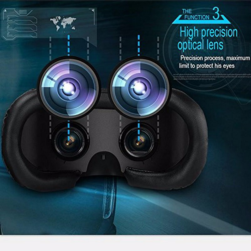 HMD-518 VR Glasses Virtual Reality Headset Screen 1080P 3D Video Movie Game Glasses Private Mobile Cinema Personal Theater Game Movie + 8G TF Card