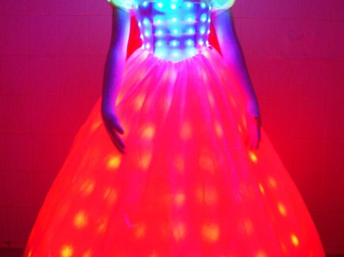 LED Bühne fluoreszierende Kostüme Anzug leuchtende Kleid zeigen - Partyartikel und Dekoration - Foto 6