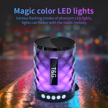 TG Colorful Led Bluetooth Speaker Portable Outdoor Bass Loudspeaker Wireless Mini Column Support TF card FM Stereo Hi Fi Boxes