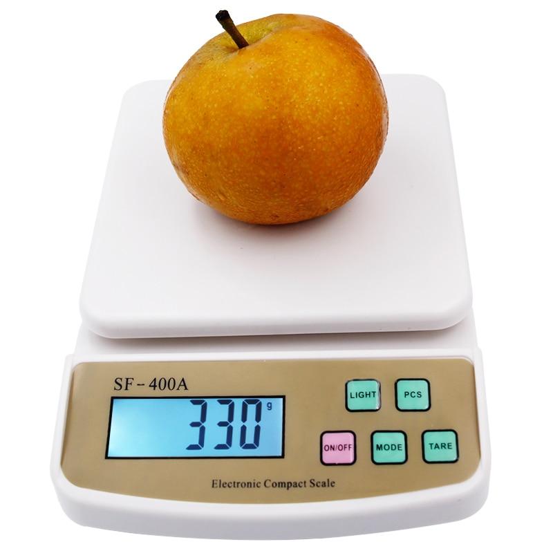 10 kg 1g Digital cocina Escala de pesaje con pantalla LCD electrónico recuento retroiluminación 20% de descuento