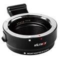Viltrox Adaptador EF-EOS M Metal Electrónico Enfoque Automático Lente profesional para para EF EF-S Lente EF-M para EOS M cámara