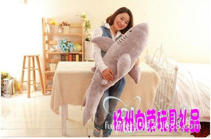105 cm-baleine requin jouet poupée bébé dessin animé grande poupée petite amie cadeaux énorme animal en peluche livraison gratuite - 2