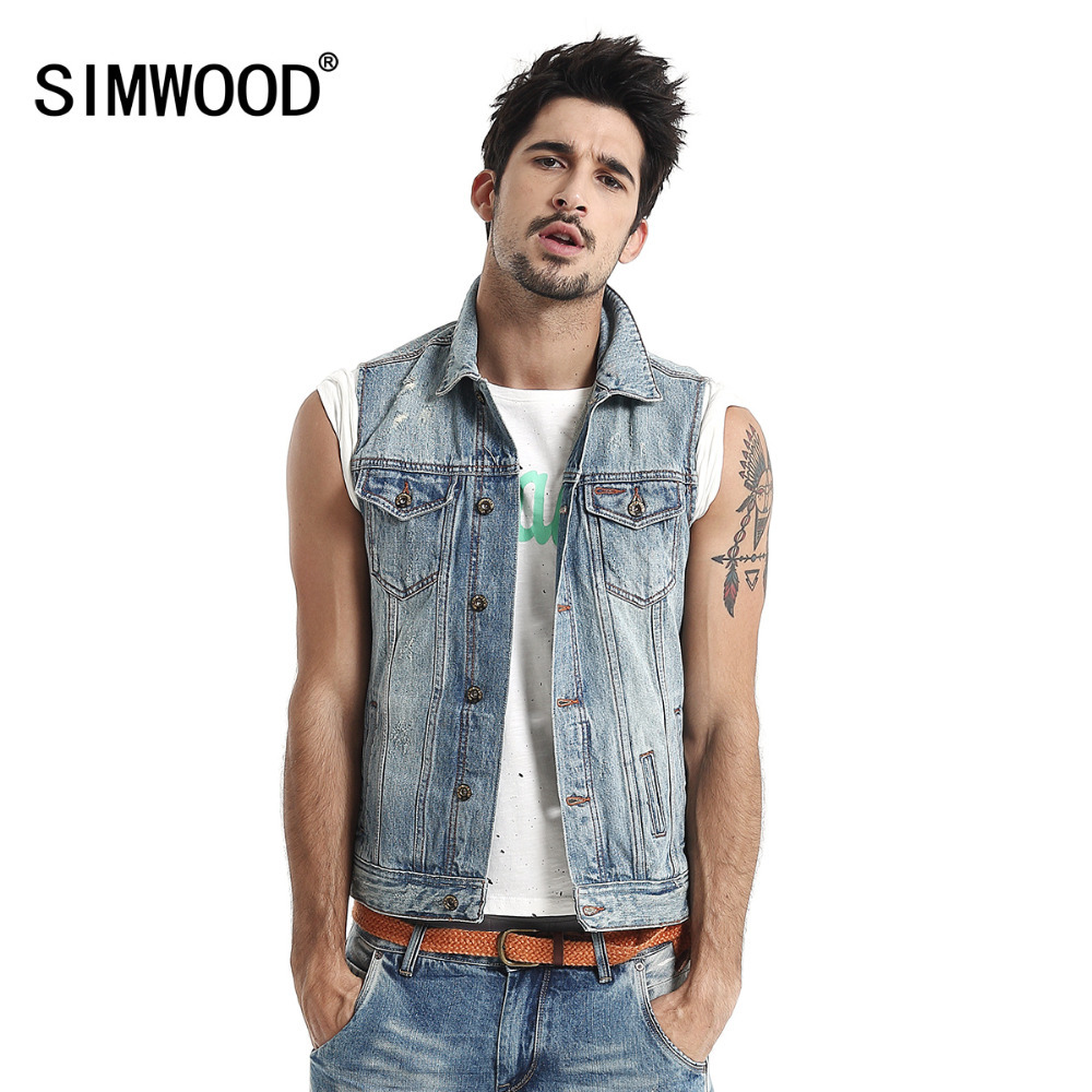 Aliexpress.com : Buy New Arrival Men's Denim Vest Brand Jeans Vest ...