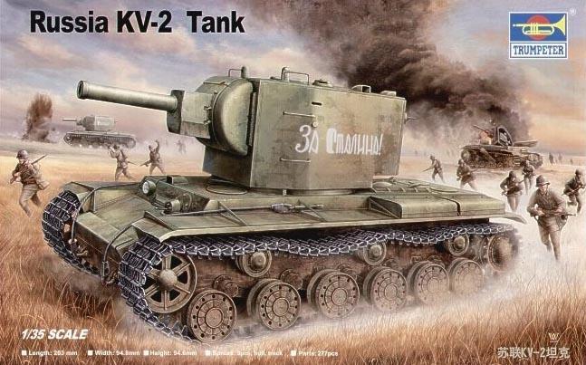 Trumpet 00312 1:35 Soviet KV-2 Heavy Tank  Assembly Model