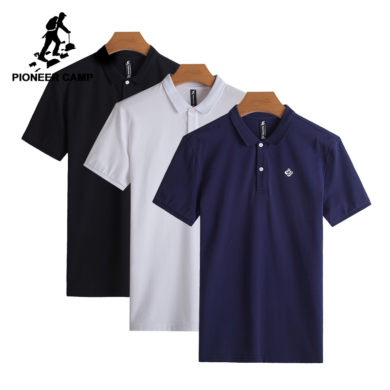 Pioneer Camp New Polo shirts Men Brand Clothing Fashion Solid Polos Male Quality 100 Cotton Casual
